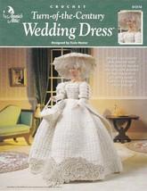 Turn of the Century Wedding Dress Crochet Barbie™ Hat Basket Train Gown ... - $10.84