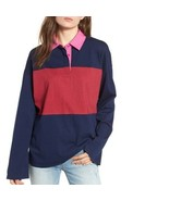 BP. Nordstrom | Size Plus 3X Navy Maritime Rugby Polo Shirt Long Sleeve  - $29.70