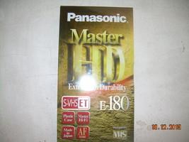 NOS Panasonic VHS Tapes Extra High Durability Sealed E-180 Master HD image 1
