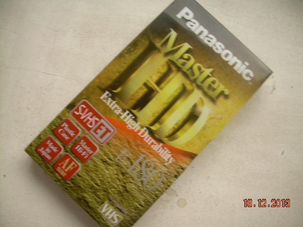 NOS Panasonic VHS Tapes Extra High Durability Sealed E-180 Master HD image 7