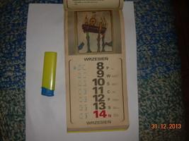 Vintage Soviet Period Polish Poland Calendar 1980 Artwork image 3