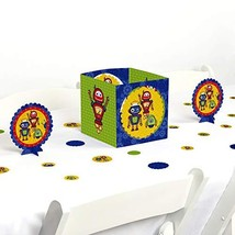 Big Dot of Happiness Robots - Baby Shower or Birthday Party Centerpiece & - $21.10