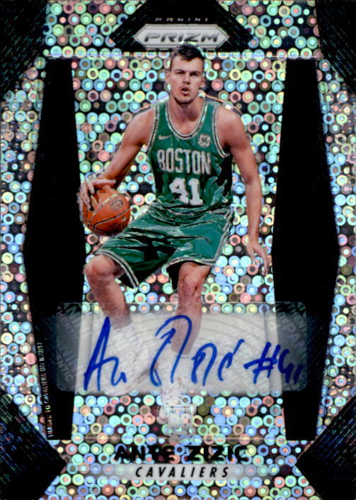 Ante Zizic 2017-18 Panini Prizm Fast Break Parallel Auto Rookie Card #19