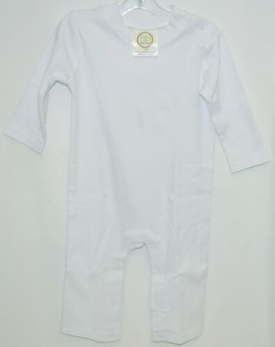 Blanks Boutique Boys Long Sleeved Romper Color White Size 12 Months