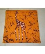 "Giraffe Art on Cloth 12""x12"" - $10.76"