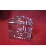 Antique Clear Glass Beveled Cube Style Inkwell - $23.99