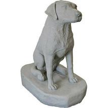 EMSCO Sitting Labrador Dog Statue – Natural Granite Appearance – Resin – 3 - $58.79