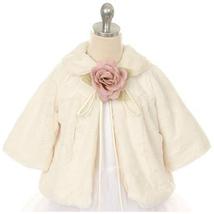 Ivory Hi Quality Soft Faux Fur Half Coat for Girls - $33.00