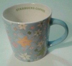Starbucks Coffee Mug Blue Floral Spring Collectible - $7.35