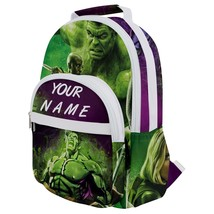 Rounded Multi Pocket Backpack kids school bag customized your name thor widow - $53.00