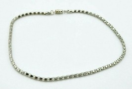 "Pcraft Silver Tone Tight Coil Metal Mesh Necklace Vintage 1960s 16"" Length - $19.79"