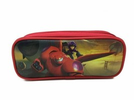 Big Hero 6 Pencil Pen Bag Case Pouch Cosmetic Bag Disney Hamada Baymax Red Nwt - $5.93