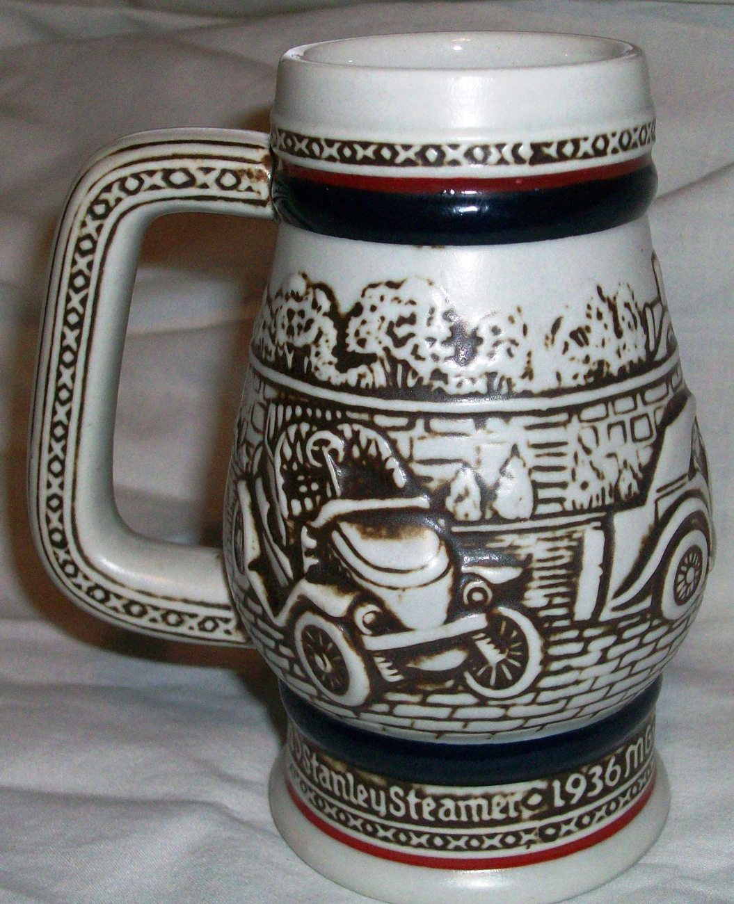 1982 Vintage Cars Ceramarte Stein Handcrafted in Brazil exclusively Avon Rare