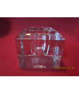 Antique Cube Shape Beveled Top Inkwell  - $23.99