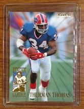 Thurman Thomas 1994 Fleer League Leader - # 9 of 10 - Fast Shipping - $1.97