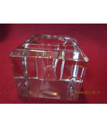 Antique Clear Glass Beveled Top Style Inkwell - $24.99