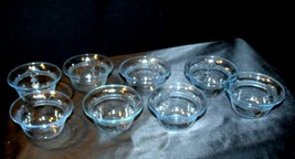 Pale Blue Depression Glass Custard Cups Fire-King AA19-CD0051 Vintage ( Set of image 2