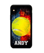 PERSONALIZED NAME NUMBER WATER TENNIS CASE COVER FOR IPHONE X 8+ 8 7 6 P... - $11.99+