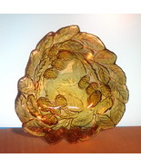 Carnival Glass Serving Bowl Loganberry Marigold    - $12.99