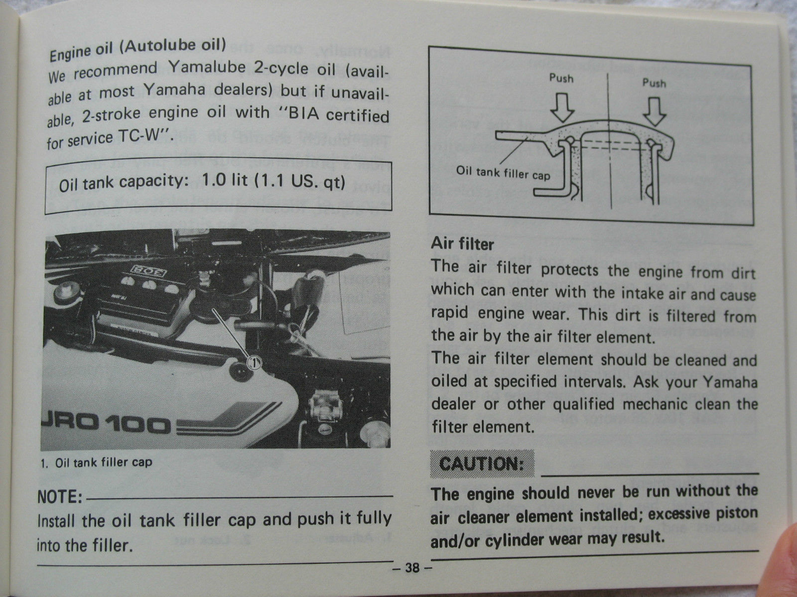 Yamaha Tc 100 Manual Wiring Diagram Daihatsu Luxio Suzuki Tc100 1974 Array 1982 82 Dt100j Dt100 Dt J 100j And 32 Similar Items Rh