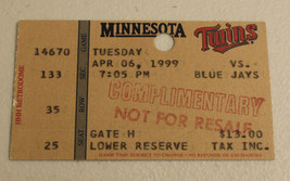 Minnesota Twins April 6 1999 Ticket Stub Carlos Delgado 119th HR - $9.99