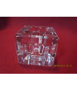Antique Indented Sides Clear Glass Inkwell  - $24.99