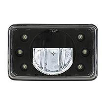 """United Pacific LED 4"""" X 6"""" Blackout Headlight W/ 6 White LED Position Lights - H - $230.31"""