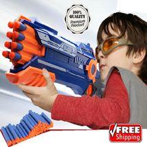 NEW Nerf Style Dart Toy Gun Rapid Fire Blaster Pistol Soft Bullet Darts ... - $44.14