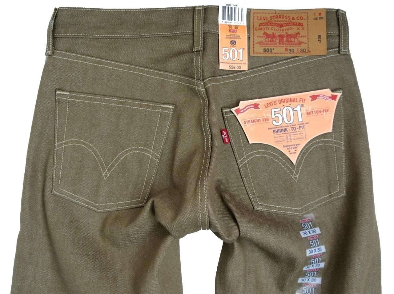 NEW NWT LEVI'S 501 MEN'S ORIGINAL FIT STRAIGHT LEG JEANS BUTTON FLY 501-1160