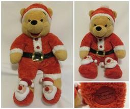 Winnie the Santa Pooh Sleeper Plush Christmas Stuffed Animal Toy Disney ... - $29.67