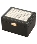 Large/Adult 210 Cubic Inches Black Plaid Leather Cremation Urn for Ashes - $149.99