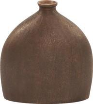 HOWARD ELLIOTT Flask Vase Small Textured Dark Copper Faux - $299.00
