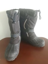 LL Bean Winter Snow Boots Youth Kids Size 4 Black and Dark Purple Item 2... - $19.75