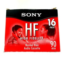 New Sony Cassette Tapes Audio Box 16 High Fidelity 90 Minute Normal Bias MI573 - $20.16