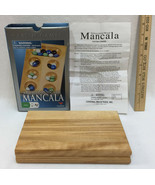 Mancala Game Wooden Board w/ Glass Marble Pieces Solid Wood Folding Orig... - $12.86