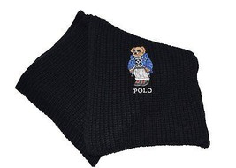 Polo Ralph Lauren Unisex Knit Scarf with Bear Logo Stitched Embroidered ... - $46.71