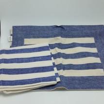 Williams-Sonoma Placemat Napkin Set of 2 Striped 100% Cotton 19x14 Recta... - $15.99