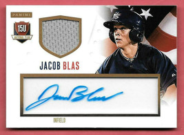 2014 Jacob Blas Panini USA Baseball Rookie Auto Jersey 24/99 - $3.79