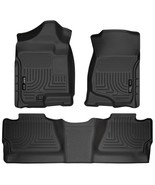 Husky Liners 98201 Black Weatherbeater Front & 2Nd Seat Floor Liners F - $168.99