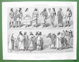 COSTUME People Arabia Cyprus Phoenicia Hebrew - Original Print Engraving - $12.60