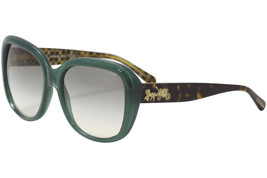 Coach Sunglasses Square Teal HC8207 54518E 57MM Blue/Green/Tortoise Frame - $108.89