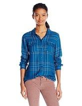 O'Neill Junior's Norma Plaid Shirt, Byron Blue, Small