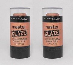 2 Pack Maybelline LE Master Glaze FaceStudio Bronzer 220 Bronzed Blonde - $6.93