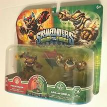 2013 Skylanders Swap-Force Fire Kraken Grilla Drilla Action Figures Unop... - $59.39