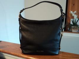 Authentic Michael Kors Bedford Large Belted Shoulder Bag Black Leather NWT $298 - $197.99