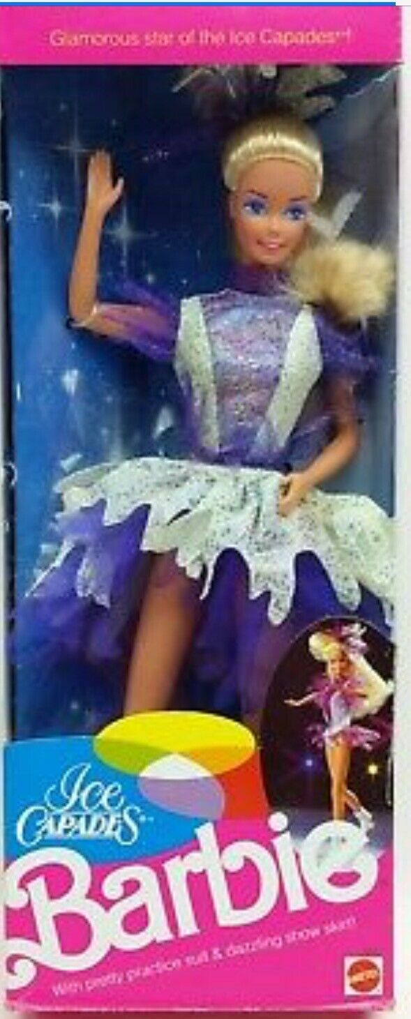 Primary image for Barbie Doll Ice Capades 1990 Skating Star 9847 Mattel NRFB