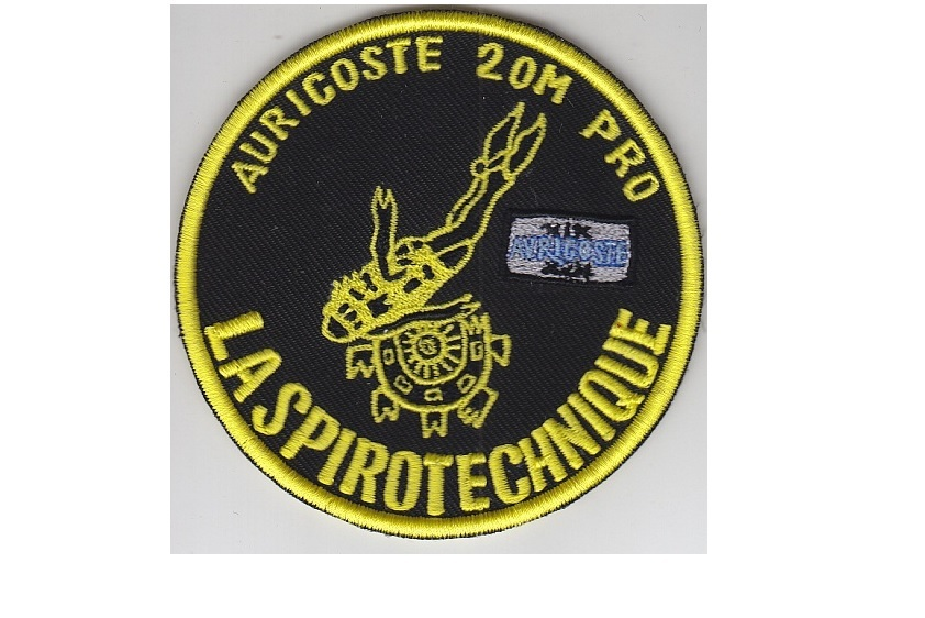 Scuba diving france la spirotechnique auricoste 20m pro watch patch 4.25 in