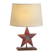 Lamp Table, Iron Red Star Home Desk Lamp For Bedroom Table Light - $53.58