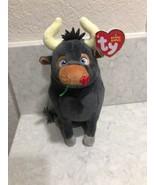 "TY Beanie Baby 6"" Ferdinand the Bull Plush Stuffed Animal Heart Tags New... - $14.95"
