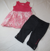 Calvin Klein 24M months girls 2 pc Dress pants outfit set 3602013 pink N... - $16.33